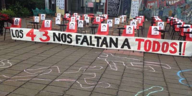 Reclamo por los 43 normalistas desaparecidos