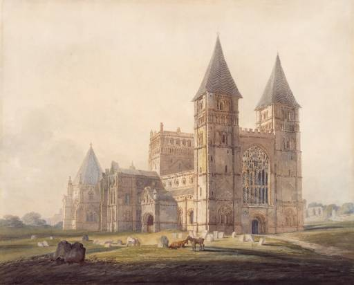 Southwell Minster null Joseph Mallord William Turner 1775-1851 Harris Museum and Art Gallery http://www.tate.org.uk/art/work/TW0801