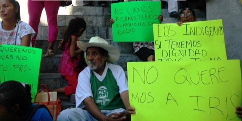 Protesta de indígenas en el ayuntamiento de Acapulco