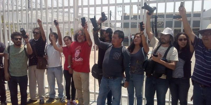 Protesta de reporteros en Guerrero