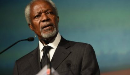 kofi anna Noticias 415x240 - Kofi Annan confía en acuerdo climático de París pese a rechazo de Trump