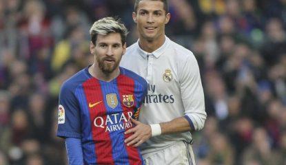 messi y cristiano 1 Noticias 415x240 - Messi y Cristiano protagonizan tremendo beso de amor