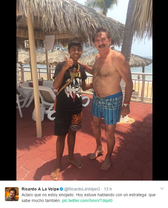 La Volpe comparte foto con Paco, el de las empanadas