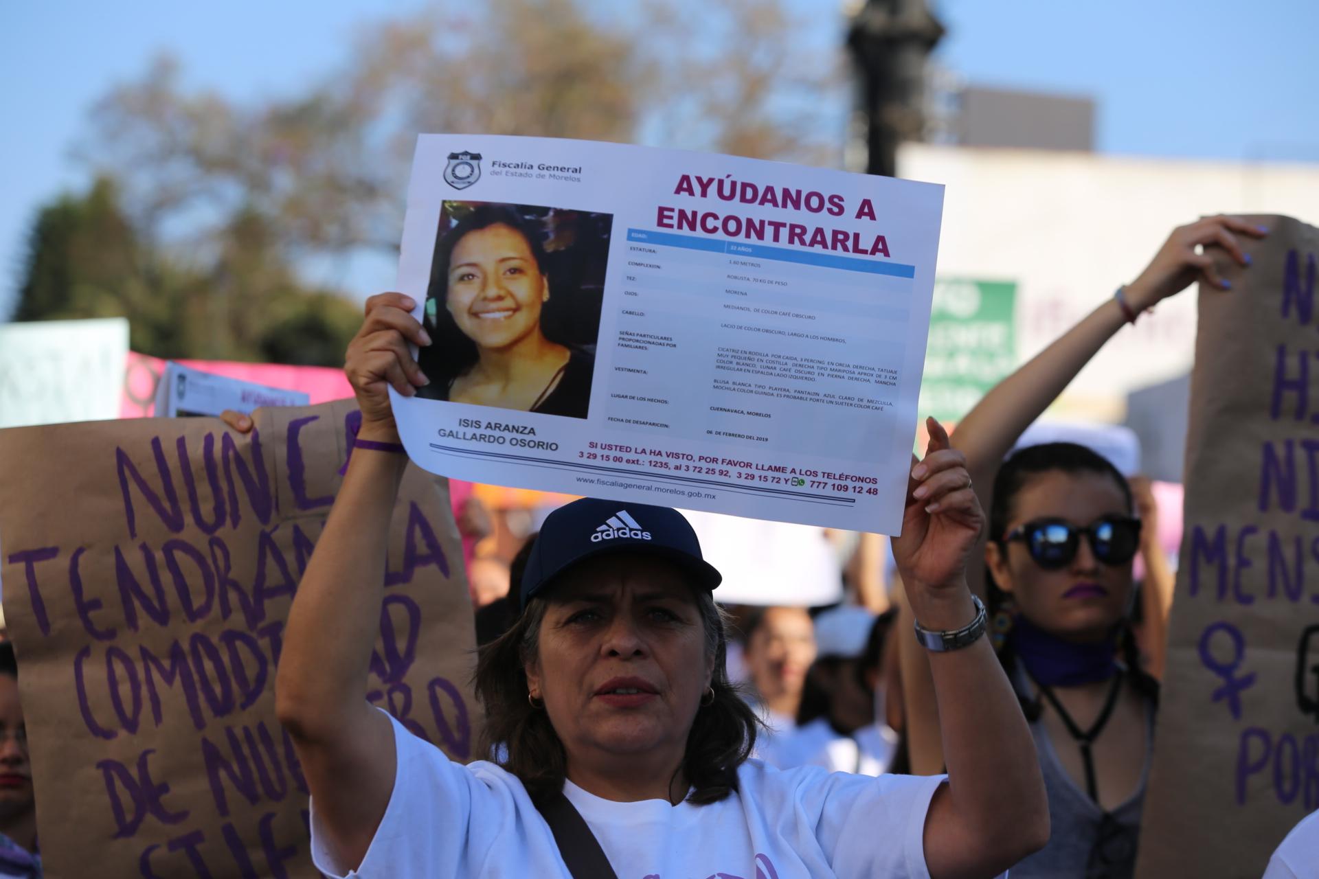 Madres de mujeres desaparecidas marcharon