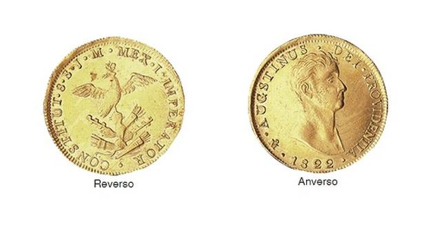 Moneda del primer Imperio 8 escudos 1822 oro.