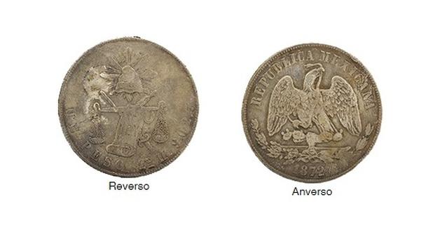 Moneda republicana de balanza 1 peso sin fecha plata
