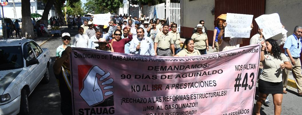 Académicos de la UAGro emplazan a huelga en Chilpancingo - Bajo Palabra