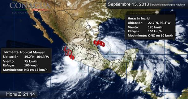Los fenómenos hidrometeorológicos causaron estragos en Guerrero.
